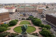St. Isaac' s-Quadrat, St Petersburg, Russland Lizenzfreie Stockbilder