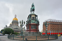St. Isaac's Square in Saint Petersburg, Russia Royalty Free Stock Photo