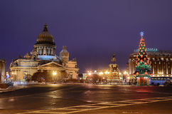 St Isaacs Square in Petersburg, Russia. Stock Images