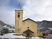 St. Iscle i St. Victoria in La Massana. Principality of Andorra Stock Images