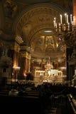 Inside of old church. St Ishtvan Basilica in Budapest Royalty Free Stock Image