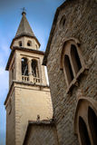 St Ivan church. Church in the Old Town of Buldva, Montenegro royalty free stock photos