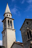 St Ivan church. Church in the Old Town of Buldva, Montenegro stock photos