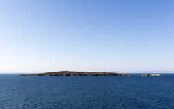 St. Ivan Island. Near Sоzopol is the largest Bulgarian island in the Black Sea royalty free stock images