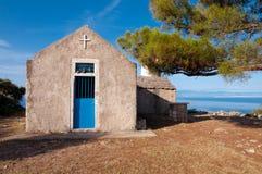 St Ivan kościół przy Losinj wyspą Zdjęcia Stock