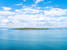 St Ivan and St Peter Islands in Black Sea Bulgaria. St Ivan Island - the largest Bulgarian island in Black Sea, and small St Peter Island, Bulgaria royalty free stock image