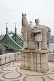 St Ivan Statue and Liberty Bridge. In Budapest, Hungary stock photos