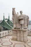 St Ivan Statue and Liberty Bridge Stock Photos