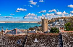 St Ives from above stock photography