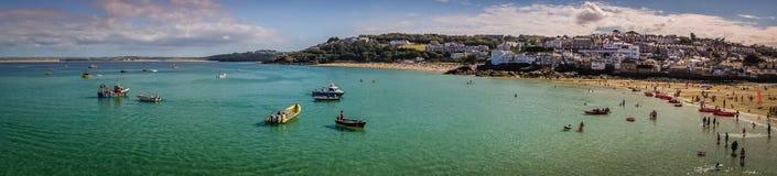 St Ives bay panorama Royalty Free Stock Photo