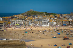 St Ives beach at low tide Royalty Free Stock Photos