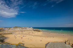 St Ives beach at low tide Royalty Free Stock Photography