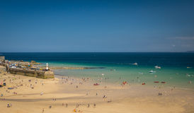 St Ives beach at low tide Royalty Free Stock Images