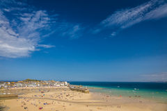 St Ives beach at low tide Royalty Free Stock Image