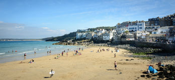 St Ives Beach panorama Royalty Free Stock Photo