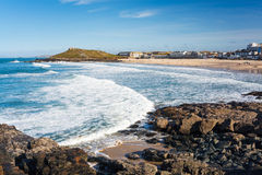 St Ives Cornwall de la playa de Porthmeor foto de archivo libre de regalías
