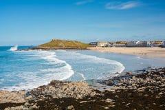 St Ives Cornwall de plage de Porthmeor images libres de droits