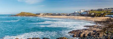 St Ives Cornwall de plage de Porthmeor photos stock