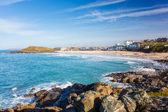St Ives Cornwall de plage de Porthmeor photo libre de droits