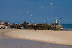St Ives, Cornwall, England. The famous beach at St Ives in Cornwall stock image