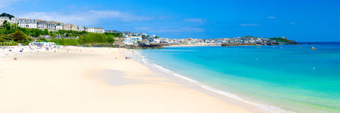 St Ives Cornwall England UK. View overlooking Porthminster Beach St Ives Cornwall England UK Stock Photo
