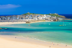 St Ives Cornwall England UK. View overlooking Porthminster Beach St Ives Cornwall England UK Stock Images