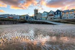 St Ives Cornwall Sunset fotos de archivo