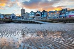St Ives Cornwall Sunset foto de archivo libre de regalías