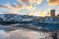 St Ives Cornwall Sunset imágenes de archivo libres de regalías