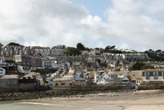 St. Ives, Cornwall, UK. The town and residential area at St. Ives, Cornwall, UK Stock Images