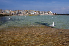 St Ives, Cornwall, UK. APRIL 18, 2017. The tourist resort of St Ives in Cornwall, UK is a popular, picturesque, travel destination because of its small Stock Photography