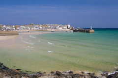 St Ives, Cornwall, UK. APRIL 18, 2017. The tourist resort of St Ives in Cornwall, UK is a popular, picturesque, travel destination because of its small Royalty Free Stock Images