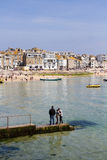 St Ives, Cornwall, UK. APRIL 18, 2017. The tourist resort of St Ives in Cornwall, UK is a popular, picturesque, travel destination because of its small Royalty Free Stock Photography
