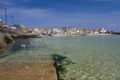 St Ives, Cornwall, UK. APRIL 18, 2017. The tourist resort of St Ives in Cornwall, UK is a popular, picturesque, travel destination because of its small Stock Image