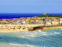 St.Ives, Cornwall, UK. The holiday seaside town of St. Ives, Cornwall, UK Stock Photos