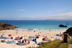 St. Ives, England: Beach and Ocean View Stock Image