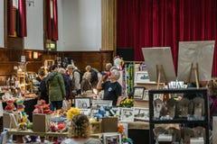 Art and antique flea market stock photo