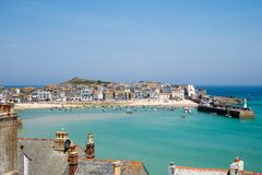 St Ives English Seaside Harbour immagini stock