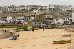 St Ives Harbor Beach, Cornwall, het Verenigd Koninkrijk stock fotografie