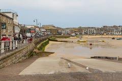 St Ives Harbor Beach, Cornwall, het Verenigd Koninkrijk stock afbeeldingen