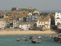 St Ives Harbour. View of Cornish harbour Royalty Free Stock Images