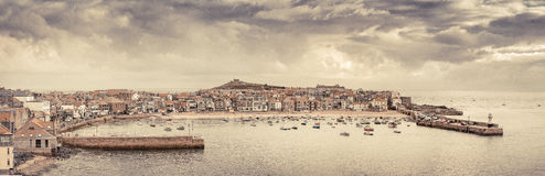 St Ives. Harbour in Cornwall, England Royalty Free Stock Photos