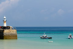 St Ives Harbour Lighthouse fotografia stock