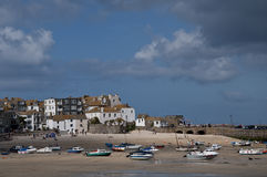 St Ives harbour at low Tide Stock Images
