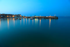 St Ives Harbour at Night Stock Images