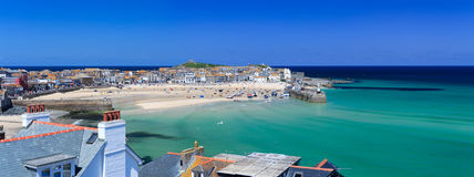 St Ives Harbour Panorama Stock Images