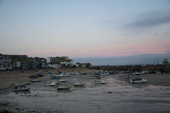 St Ives Harbour at Sunset Royalty Free Stock Image