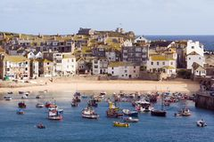 St Ives Harbour Village Stock Image