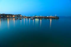 St Ives Haven bij Nacht Stock Afbeeldingen