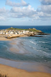 St. Ives at low tide. Royalty Free Stock Photo